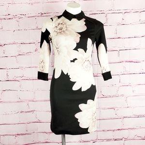 Ted Baker Kida Monochrome Floral Dress